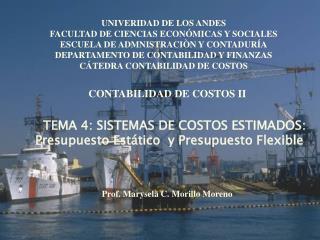TEMA 4: SISTEMAS DE COSTOS ESTIMADOS : Presupuesto Est�tico  y Presupuesto Flexible