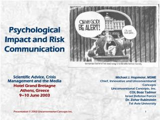 Psychological Impact and Risk Communication