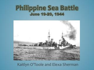 Philippine Sea Battle June 19-20, 1944