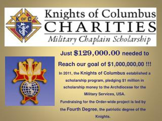 Just  $129,000.00  needed to Reach our goal of $1,000,000,00 !!!