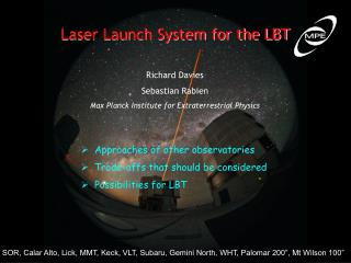 Laser Launch System for the LBT