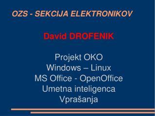 OZS - SEKCIJA ELEKTRONIKOV