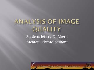 Analysis of Image Quality