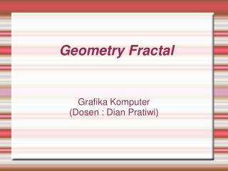 Geometry Fractal