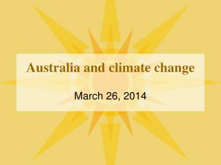 Australia and climate change
