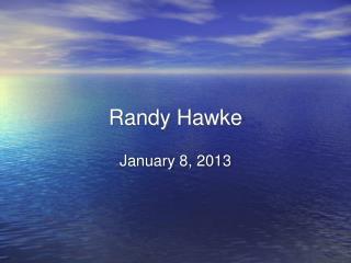 Randy Hawke
