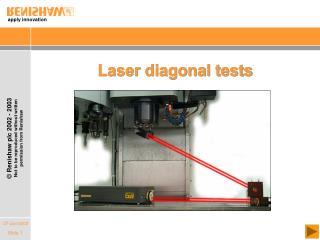 Laser diagonal tests