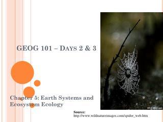 GEOG 101 – Days 2 & 3