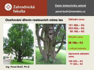 �stav biotechniky zelen? pavel.bulir@mendelu.cz