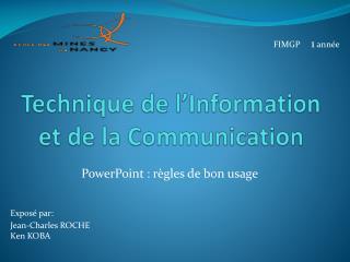 Technique de l�Information et de la Communication