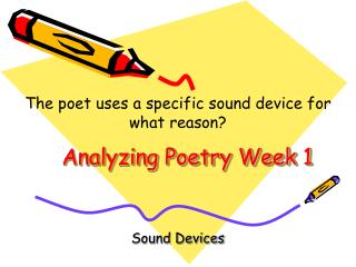 Analyzing Poetry Week 1