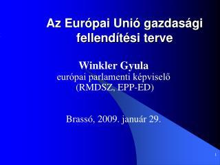 Az Európai Unió gazdasági fellendítési terve