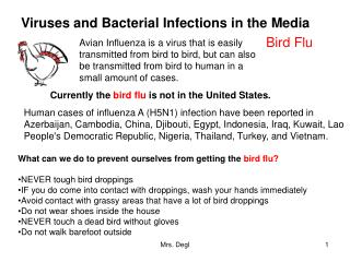 Viruses and Bacterial Infections in the Media