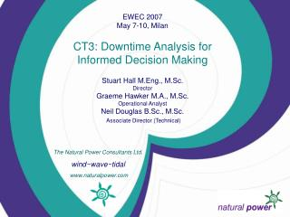 The Natural Power Consultants Ltd. wind~wave~tidal  naturalpower