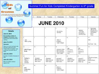 Details June 9, 2010