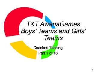T&T AwanaGames Boys' Teams and Girls' Teams