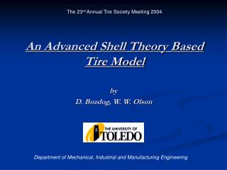 An Advanced Shell Theory Based Tire Model