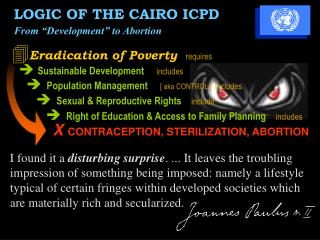  Eradication of Poverty requires  Sustainable Development   includes
