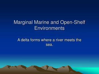 Marginal Marine and Open-Shelf Environments