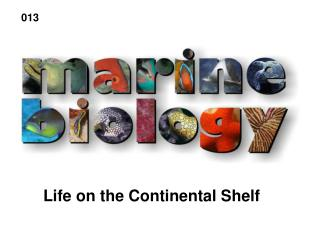 Life on the Continental Shelf