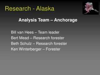 Research - Alaska