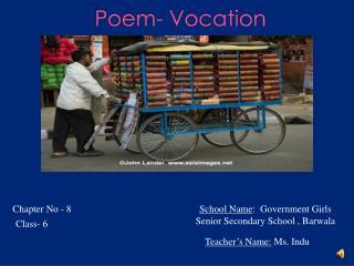 Poem- Vocation