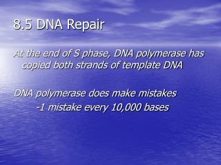 8.5 DNA Repair