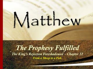 The Prophesy Fulfilled The King's Rejection Foreshadowed – Chapter 12 From a Sheep to a Fish
