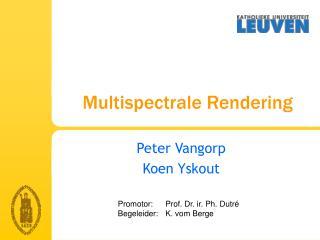 Multispectrale Rendering
