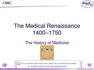 The Medical Renaissance 1400–1750