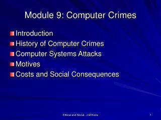 Module 9: Computer Crimes