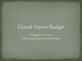Grand Haven Budget