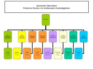 Gemeinde Oberrieden Politische Struktur mit funktionalen Zuständigkeiten