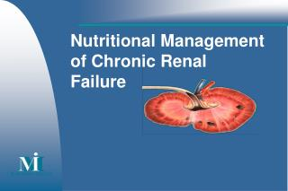 Nutritional Management  of Chronic Renal Failure