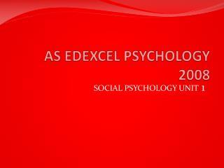 AS EDEXCEL PSYCHOLOGY 2008