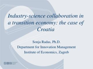 Industry-science collaboration in a transition economy: the case of Croatia