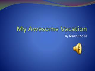 My Awesome Vacation
