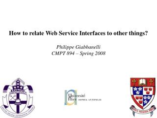 How to relate Web Service Interfaces to other things?