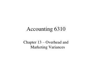 Accounting 6310
