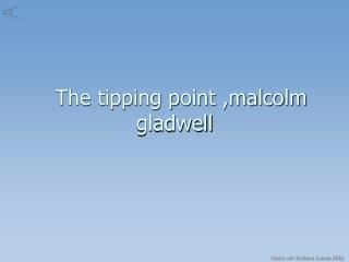 the tipping point malcolm gladwell pdf