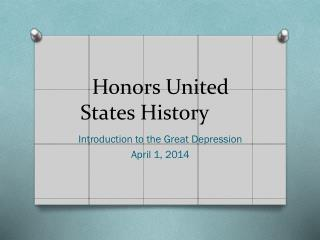 Honors United States History