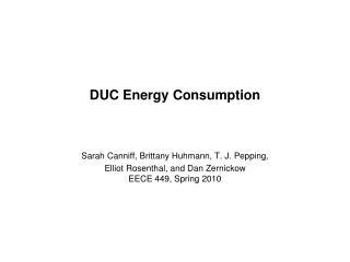 DUC Energy Consumption