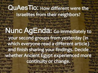 QuAesTio : How different were the Israelites from their neighbors?