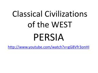 Classical Civilizations of the WEST