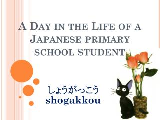 A Day in the Life of a Japanese primary  school  STUDENT