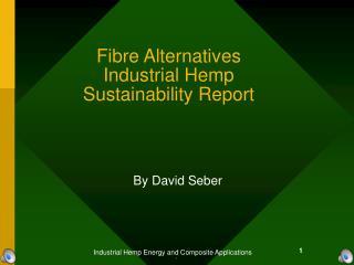 Fibre Alternatives Industrial Hemp  Sustainability Report