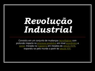 Revolu  o Industrial