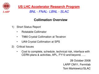 Collimation Overview