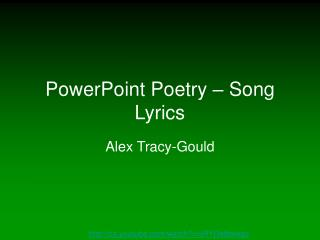 PowerPoint Poetry – Song Lyrics