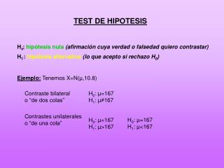 TEST DE HIPOTESIS